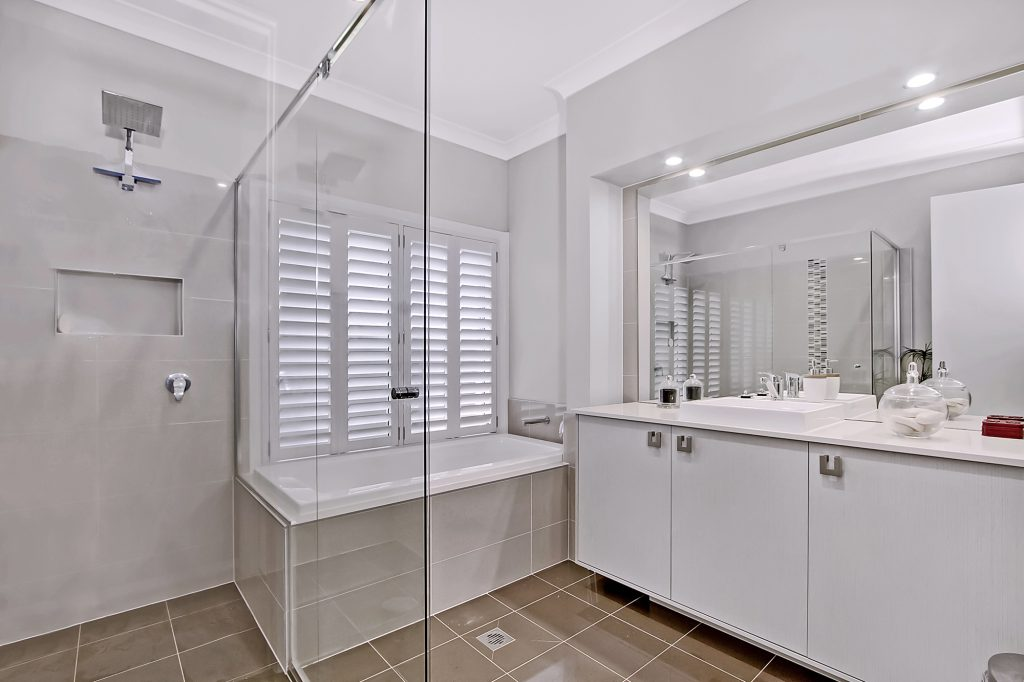 Plantation shutters for bathrooms