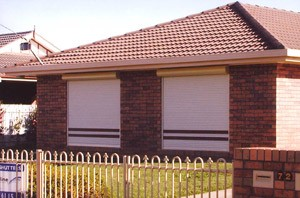 Roller Shutter on Brick Home