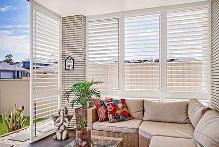 Modern Louvred shutters are a secure aluminium, weather-proof alternative for window shutters.